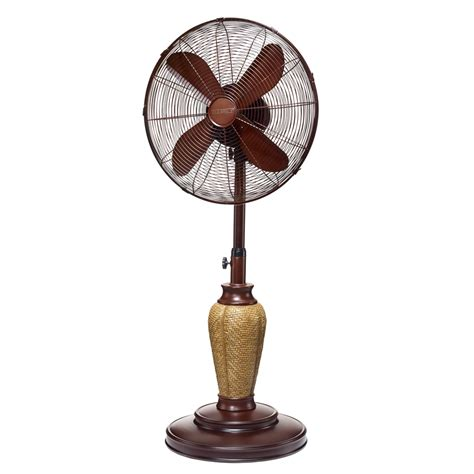 outdoor oscillating pedestal fan outdoor kailua floor fan with free misting kit happy