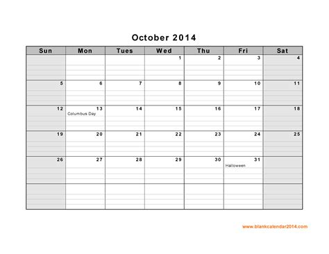 october 2014 calendar template 8 best images of oct 2014 calendar printable template