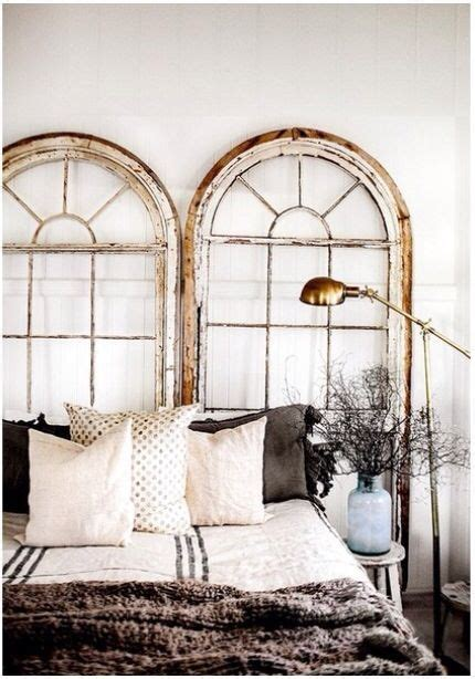 Old Windows As Headboard Doin It Pinterest