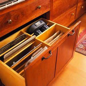 Lower Kitchen Cabinets Drawers by Baking Pans Organized To Easily Fit Lower Cabinet Pull Out