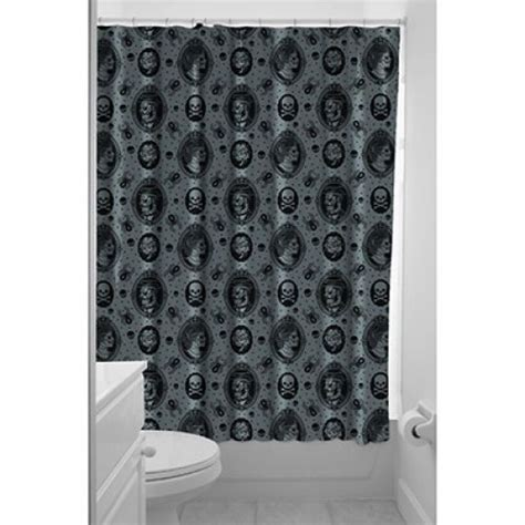 zombie pinup shower curtain 19 00 truly twisted zombie cameo shower curtain