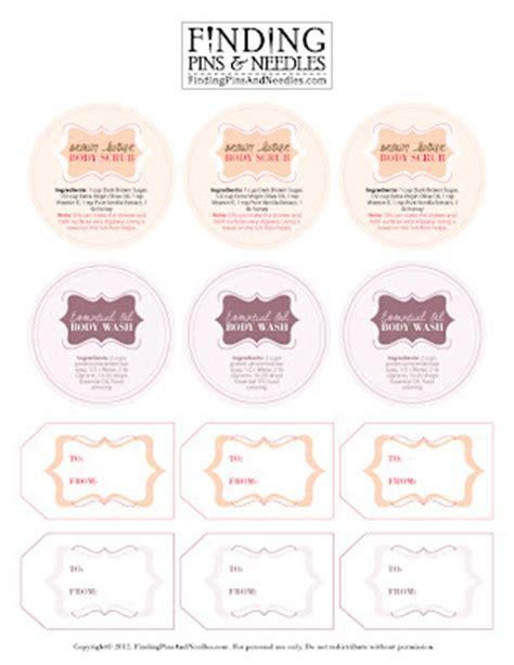 S Secret Torso Tag Label finding pins and needles scrub wash printable labels