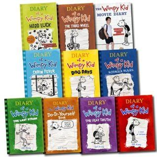 libro roman diary diary histories jeff kinney 10 books set diary of a wimpy kid collection hard luck movie di by jeff kinney