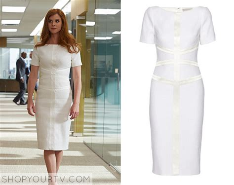 suits season 4 episode 10 donna s white tweed dress