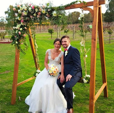 backyard wedding hire wedding swing flower swing hire melbourne