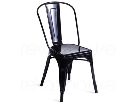 elan modern black metal side chair set of 4