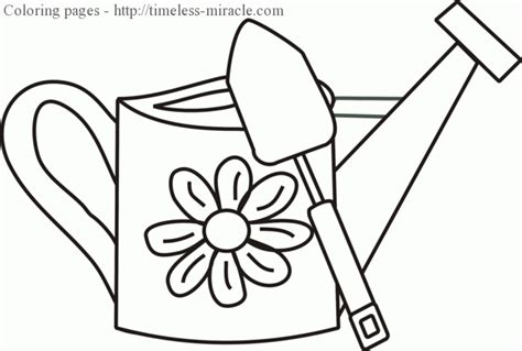 Watering Can Coloring Page Timeless Miracle Com Watering Can Coloring Page