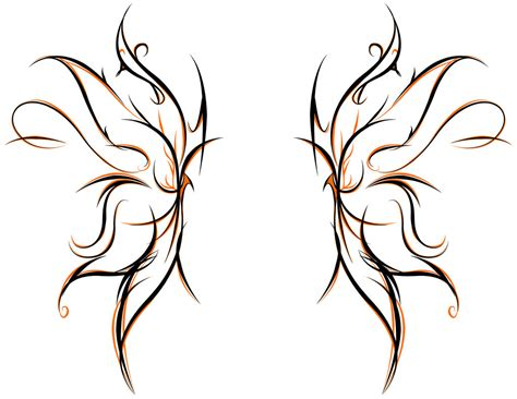 tribal wing tattoo designs tribal butterfly drawings clipart best