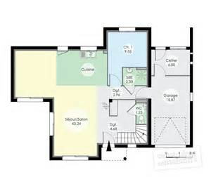 maison contemporaine 12 d 233 du plan de