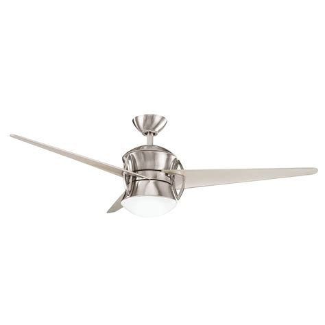 Stainless Steel Ceiling Fans With Lights Shop Kichler Lighting Cadence 54 In Brushed Stainless Steel Downrod Mount Indoor Ceiling Fan