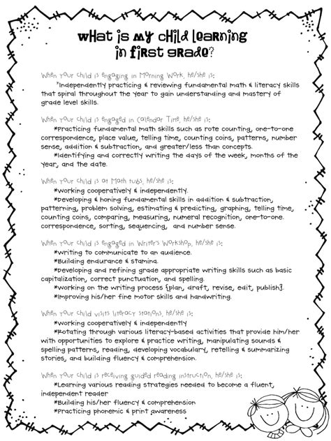 Parent School Letter Va Grade Team What Is My Child Learning In Grade