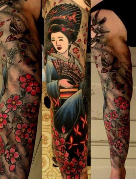 geisha tattoo miami ink japanese sleeve tattoo geisha tattoo pinterest