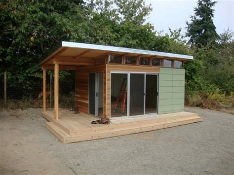 modern shed home office space  frame  day