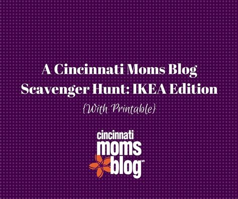 ikea scavenger hunt a cincinnati moms blog scavenger hunt ikea edition with