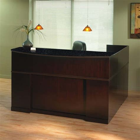 mayline sorrento reception desk mayline sorrento reception desk in espresso srcdesp