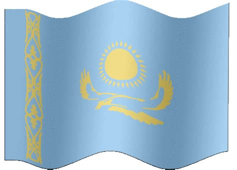 flags of the world kazakhstan animated kazakhstan flag country flag of abflags com