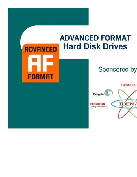 advanced format for disk drives