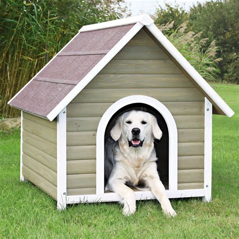 lowes dog house shop trixie pet products 3 104 ft x 2 937 ft x 3 458 ft wood dog house at lowes com