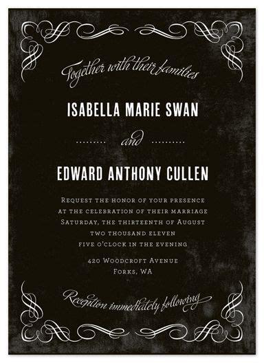 twilight saga wedding invitation moody and wedding twilight themed invitation for and edward s wedding twilight