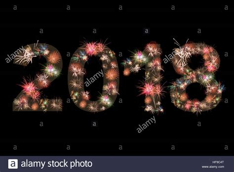 colorful happy new year 2018 happy new year 2018 fireworks colorful version 2 stock