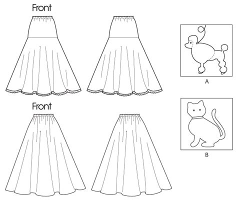 simple underskirt pattern mccall s 6384 girls pull on skirt and petticoat