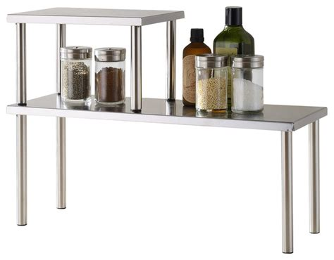 Stainless Steel Pantry Shelves by 2 Tier Counter Storage Shelf Stainless Steel