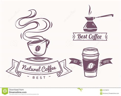 design elements of a coffee shop coffee shop illustration and design elements stock vector