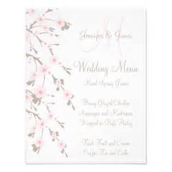 cherry blossom wedding dinner menu cards back 4 25 quot x 5 5 quot invitation card zazzle