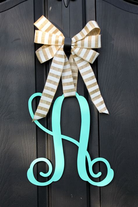 Monogram Wreath For Door by Wooden Monogram Wooden Door Hanger Wreath Etsy Wreath