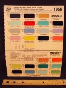 1956 lincoln mercury paint colors chip page loose leaf january 1