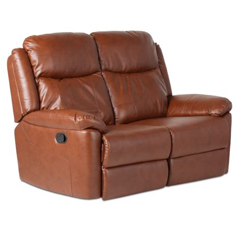 leather recliner sofa 2 seater reya brown price 352 80