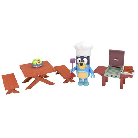 bluey bandits family backyard bbq mini playset aussie