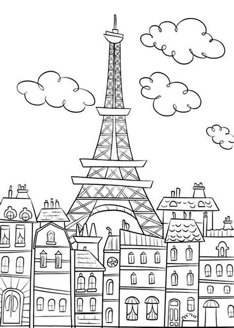 coloring pages for eiffel tower coloring pages fast printable eiffel tower coloring pages