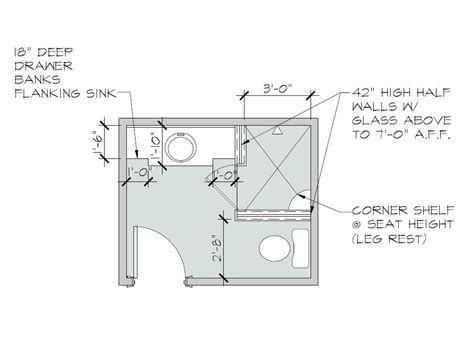ada residential bathroom layout
