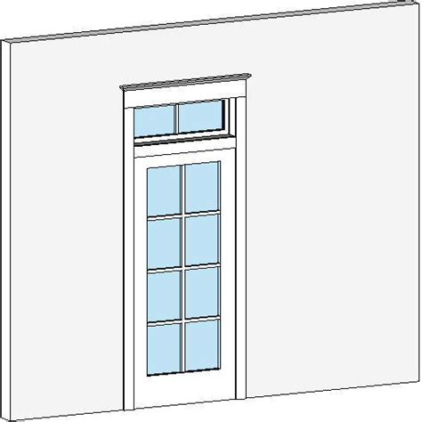 Patio Doors With Transom Revitcity Object 8 Lite Patio Door W Transom