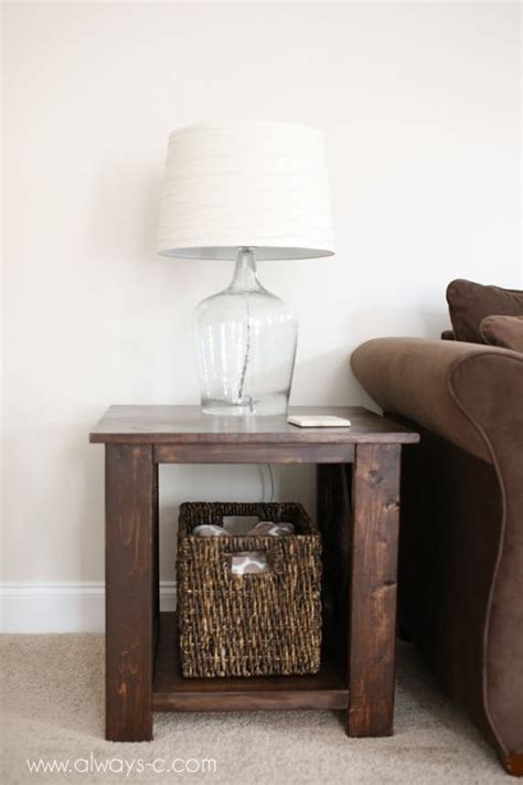 diy end table plans diy rustic end tables woodworking projects plans