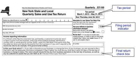 sales tax return format filing a final sales tax return