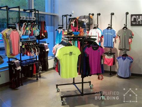 Clothing Shop Racks Wall Mounted Clothing Racks How To Use Them Effectively