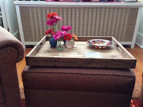 How To Make An Ottoman Tray Diy Pallet Ottoman Tray Pallet Furniture Diy