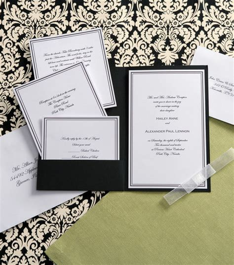 wilton wedding invitation templates wilton elegance invitation kit black white jo
