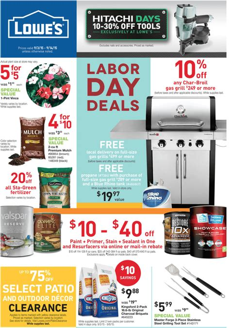 lowe s labor day 2016 sale deals blackerfriday com