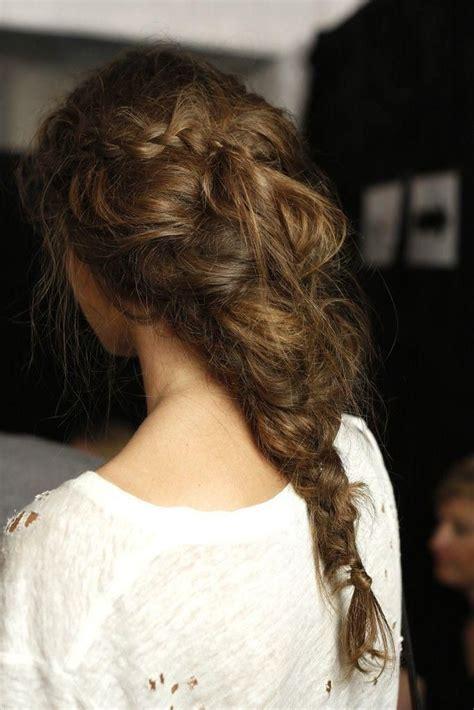 braided hairstyles messy messy braid beautiful hair pinterest