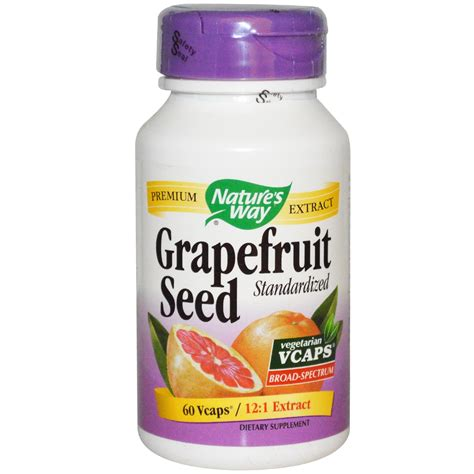 nature s nature s way grapefruit seed standardized 60 vcaps