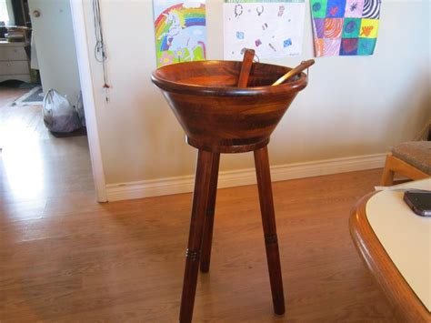 wooden bowl stand wooden casear salad bowl on stand central saanich