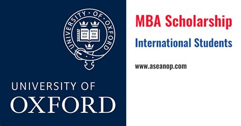 Mba In For International Students by The Skoll Mba Scholarship At Of Oxford Uk
