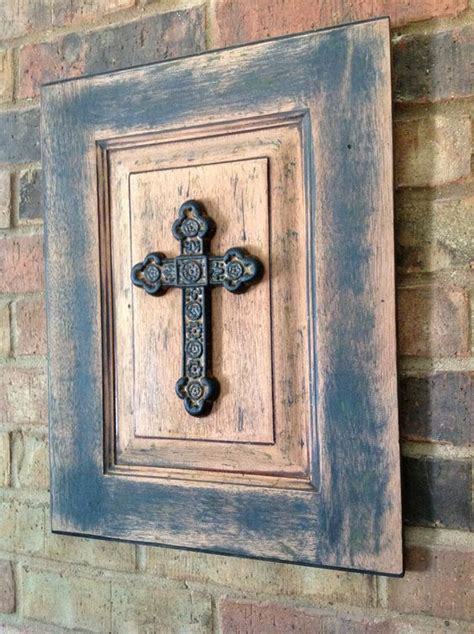 Salvage Cabinet Doors Salvaged Rustic Cross Picture Upscaled From Cabinet Door 30 00 Via Etsy Crosses