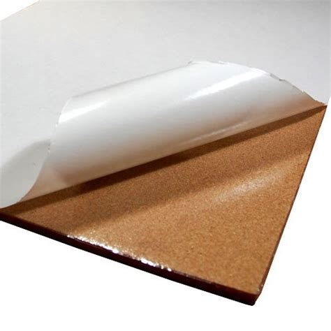 cork sheet with adhesive 48in x 25ft x 1 16in thick