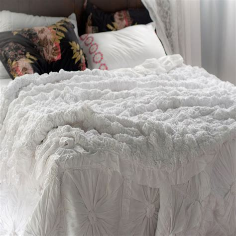 lazybones bedding lucia white quilt vintage style bed sets