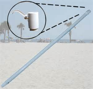 Patio Umbrella Pole Replacement Parts Replacement Steel Umbrella Pole Umbrellas Beachstore