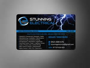 electrician business cards professional upmarket business card design for stunning